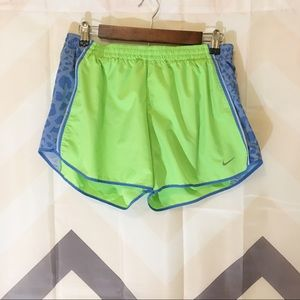 Nike lime green track shorts